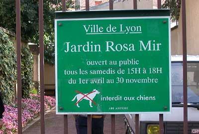 Jardin Rosa Mir Horaires
